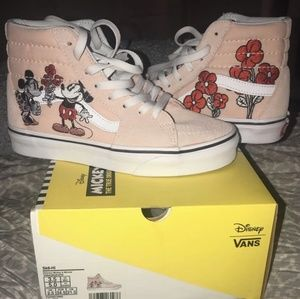 Mickey mouse flower disney vans shoes